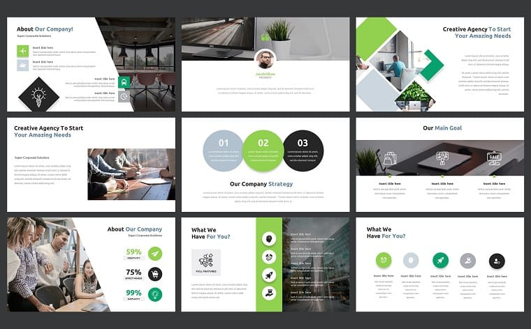 Business Project Complete PPT Slides Set PowerPoint Template