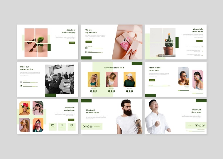 Cactos Creative Business PowerPoint Template