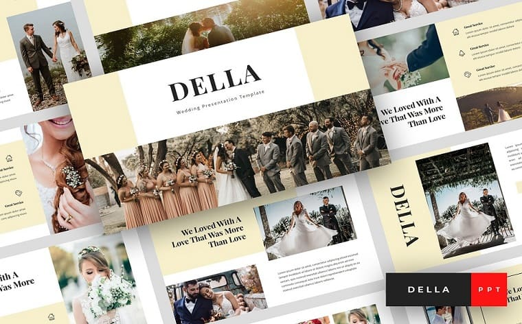 Della - Wedding Presentation PowerPoint Template