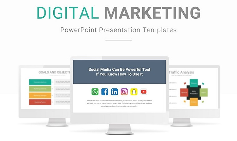 Digital Marketing Presentation PowerPoint Template