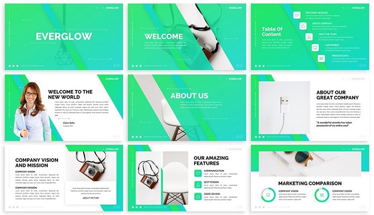 Everglow - Gradient PowerPoint Template