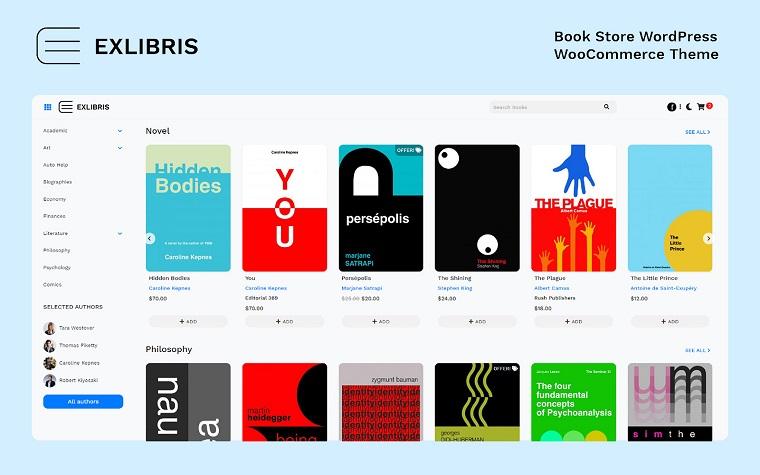 Minimalistic EXLIBRIS WooCommerce Theme