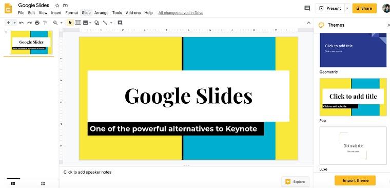Google Slides.