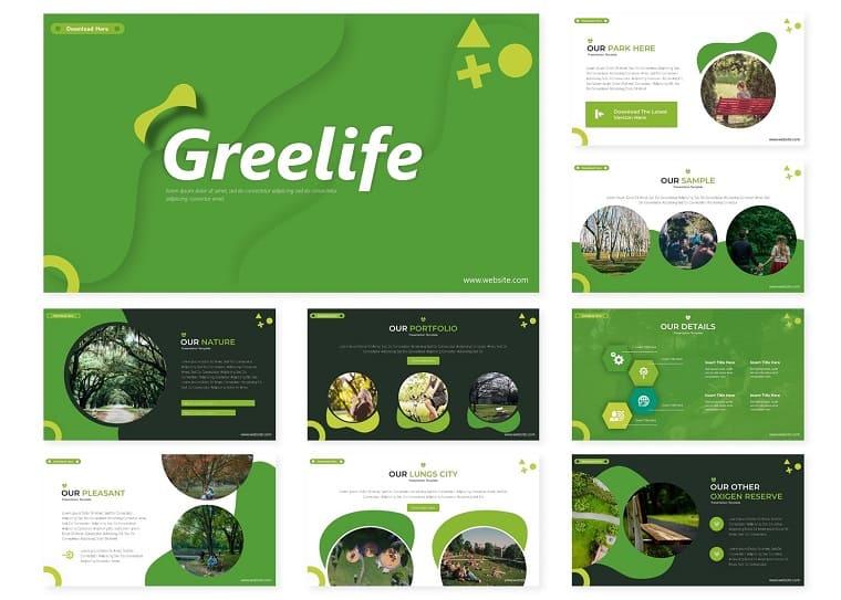 Greelife   PowerPoint Template