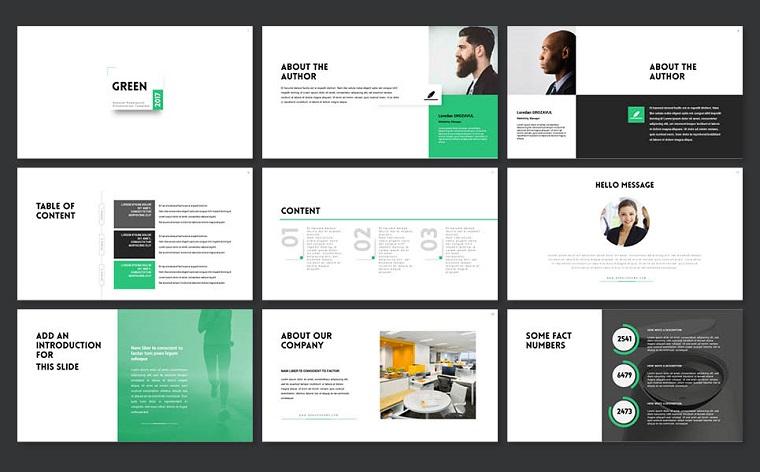 Green2017 PowerPoint Template