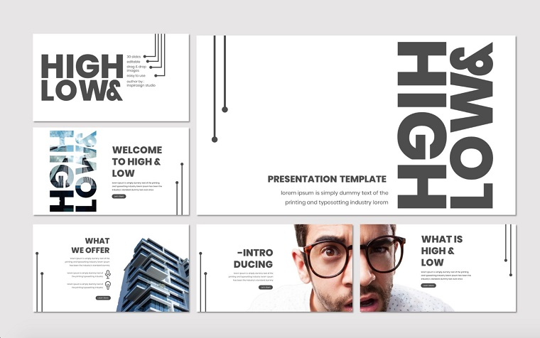 High & Low - PowerPoint Template