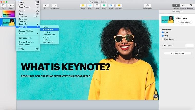 Keynote Export.