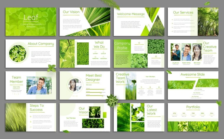 Green Powerpoint Templates Create An Impressive Slideshow For Your Presentation