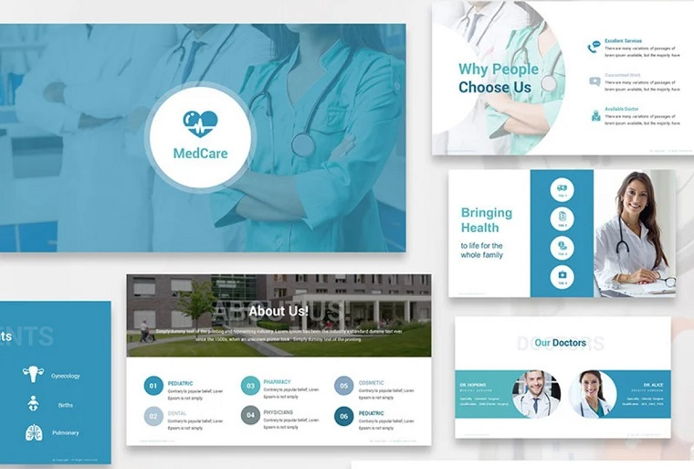 MedCare PowerPoint Template for Full PPT Demonstration