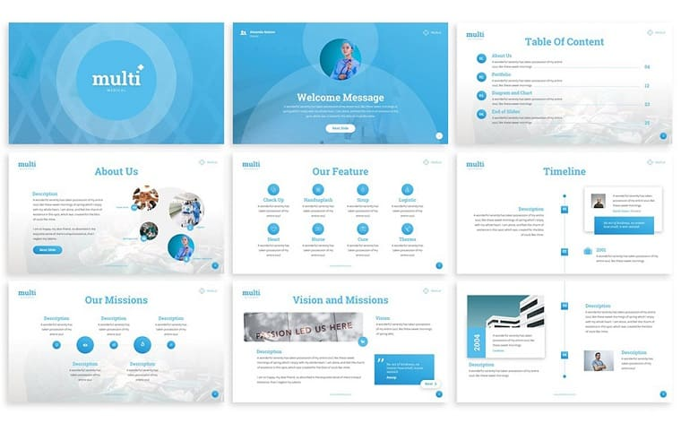MultiMedical - Presentation PowerPoint Template