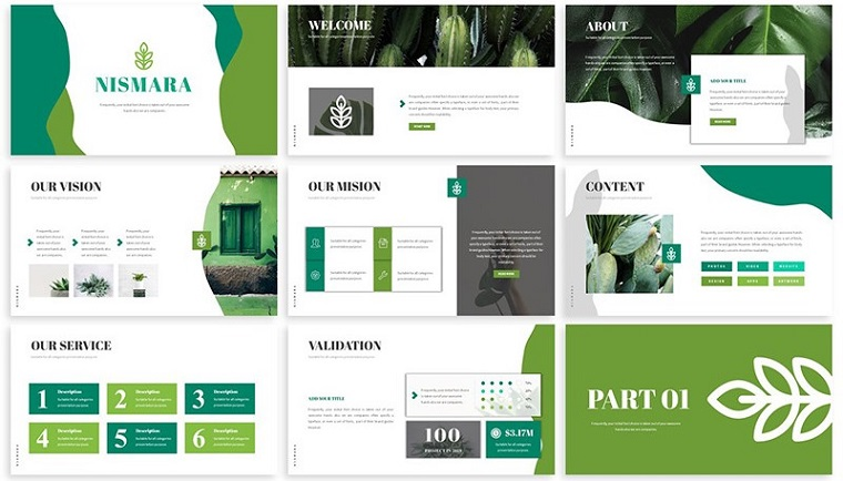 green powerpoint templates  create an impressive slideshow