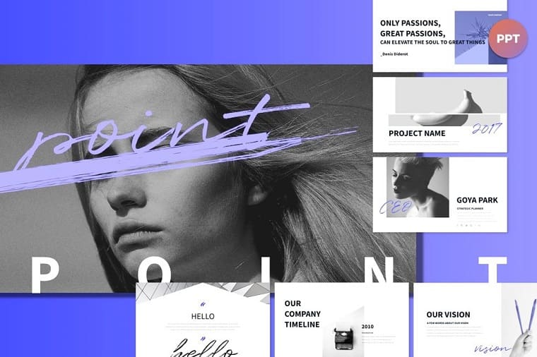 Point Blue PowerPoint template