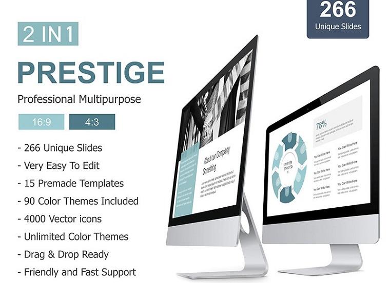 Prestige 2 in 1 Presentation PowerPoint Template