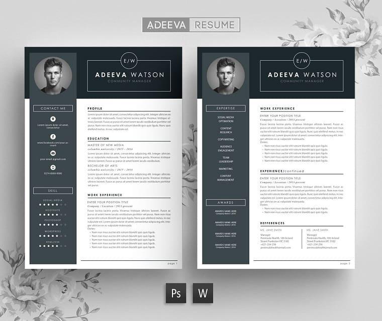 Professional Resume Template Watson