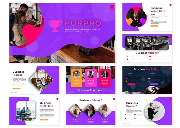 Purpro | PowerPoint Template