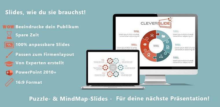 Puzzle & MindMap-Slides PowerPoint Template