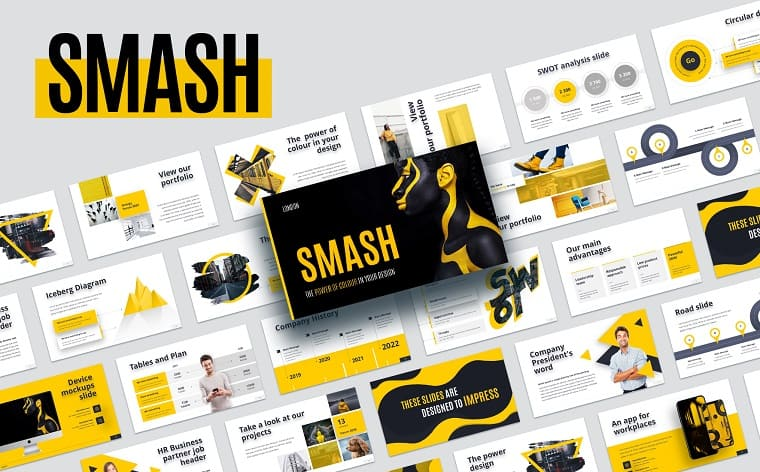 Smash Animated PowerPoint Template
