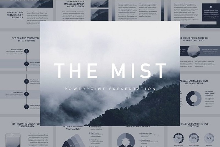The Mist PowerPoint Template