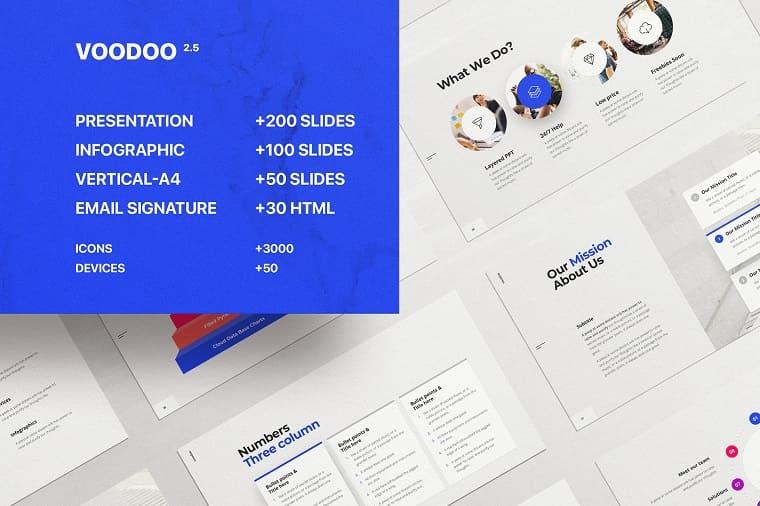 Voodoo blue PowerPoint templates