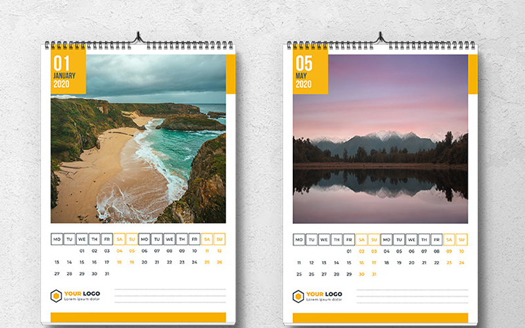 Wall Calendar 2020 With Square Photo Planner