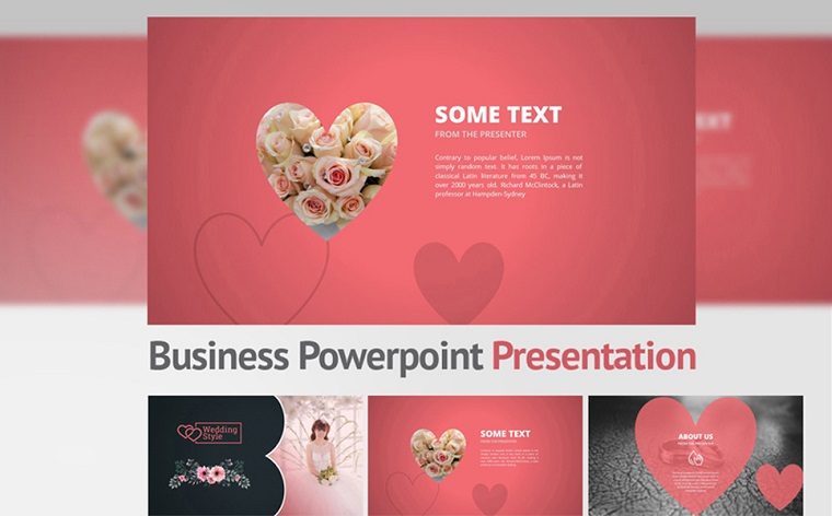 Beautiful Wedding Presentation Templates