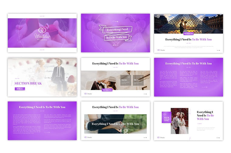 Weddio Wedding Event PowerPoint Template