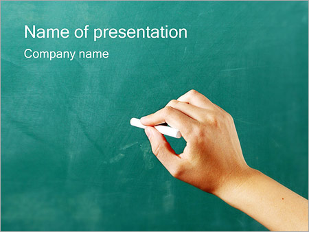 Writing on Chalkboard PowerPoint Template & Infographics Slides