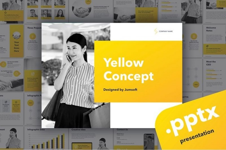 Yellow Concept PowerPoint Template