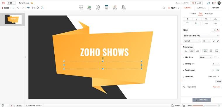 Zoho Show.