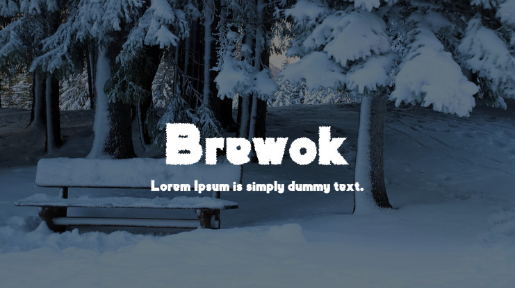 Brewok Distorted Christmas Font