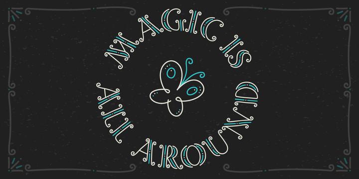 Magic Curls Font