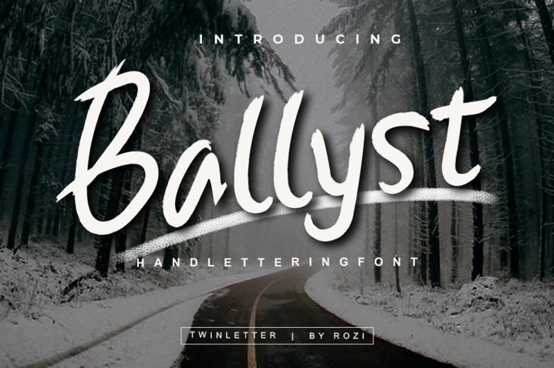 Ballyst Winter Font