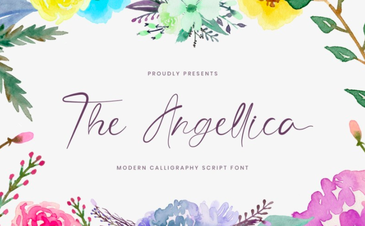 The Angellica - Modern Calligraphy cursive Font