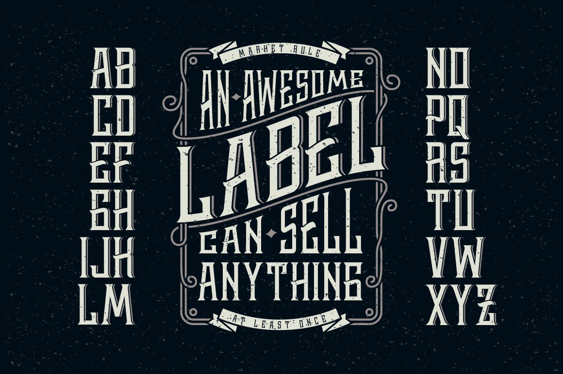 Whisky Label + Design Elements Font