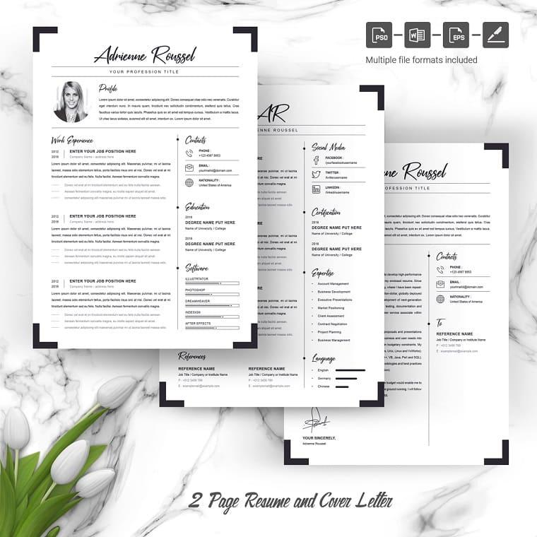 Adrienne - Data Analyst Resume Template