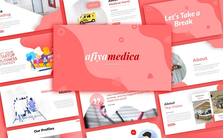 Afiyamedica Medical Presentation PowerPoint Template