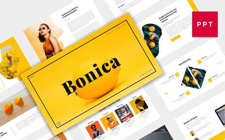Bonica PowerPoint Template for Modern Creative Company