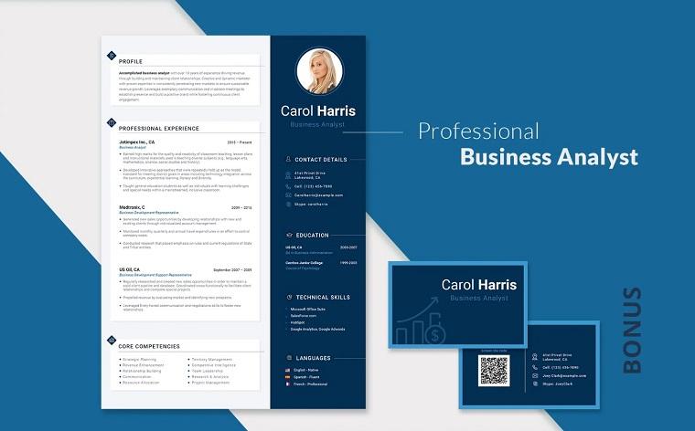 Carol Harris - Data Analyst Resume Template