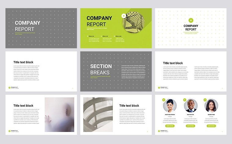 Company Report PowerPoint Template
