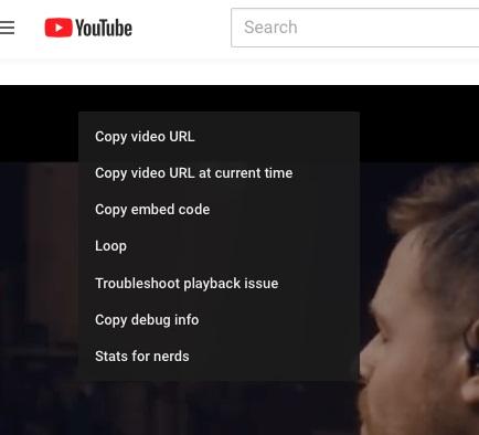 Copy video URL.