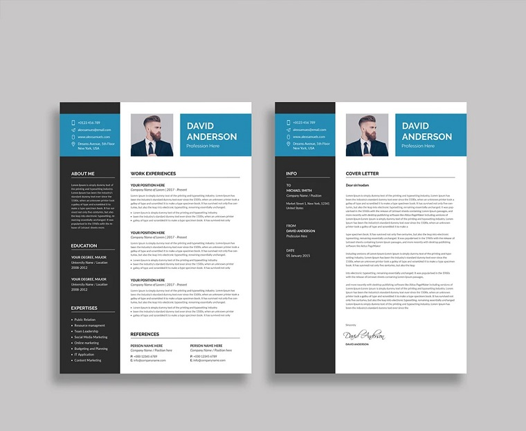 David Anderson Resume Template