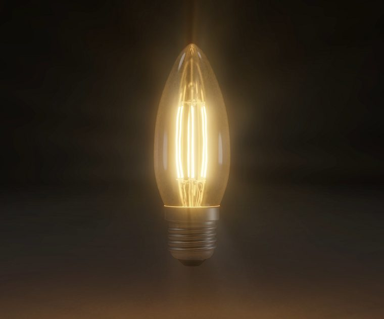 Flickering Lamp Loop Animation Stock Motion Graphic