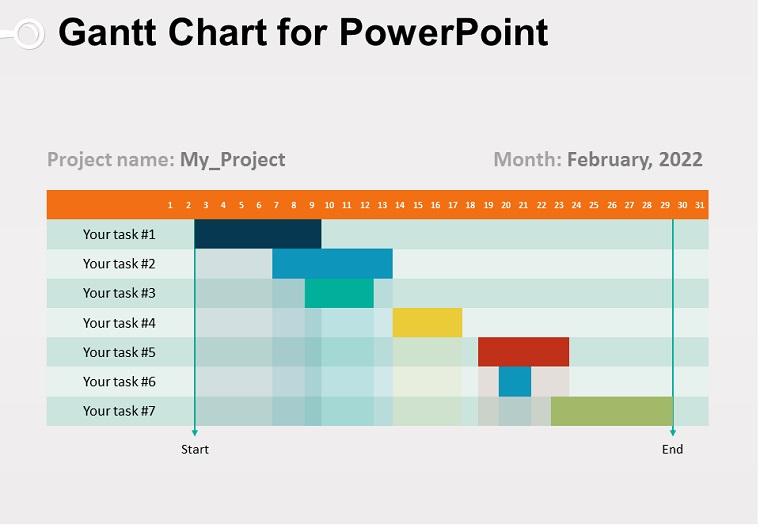 Gantt Chart for PowerPoint
