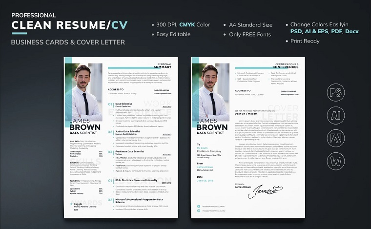 James Brown - Data Analyst Resume Template