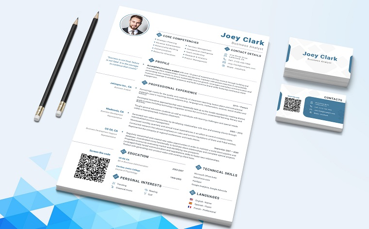 Joey Clark - Data Analyst and Financial Consultant Resume Template