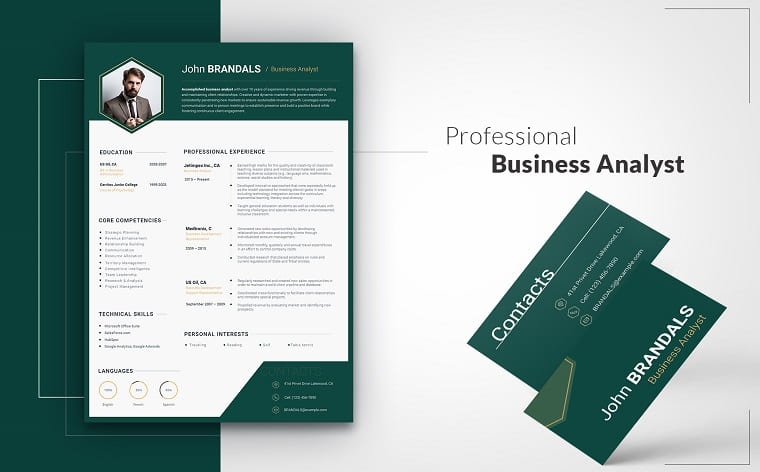 John Brandals - Accounting Resume Template