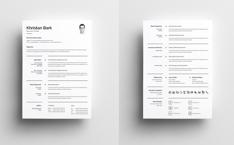 Khristan Bark - Clean Executive Assistant Resume Template