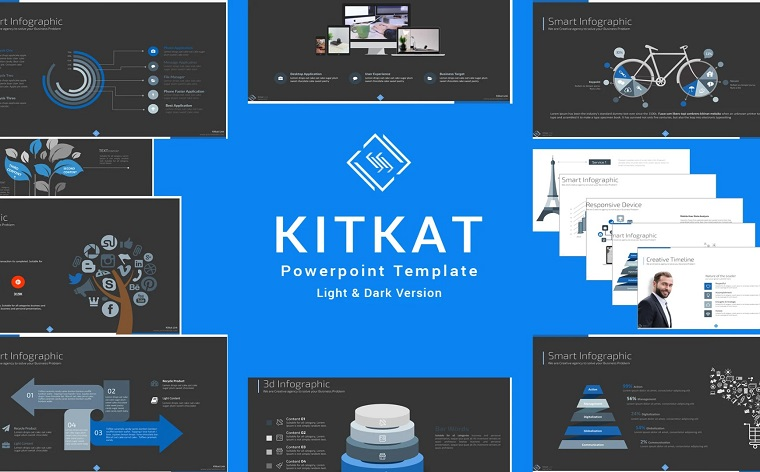 KitKat PowerPoint Presentation Template with Ready Diagrams