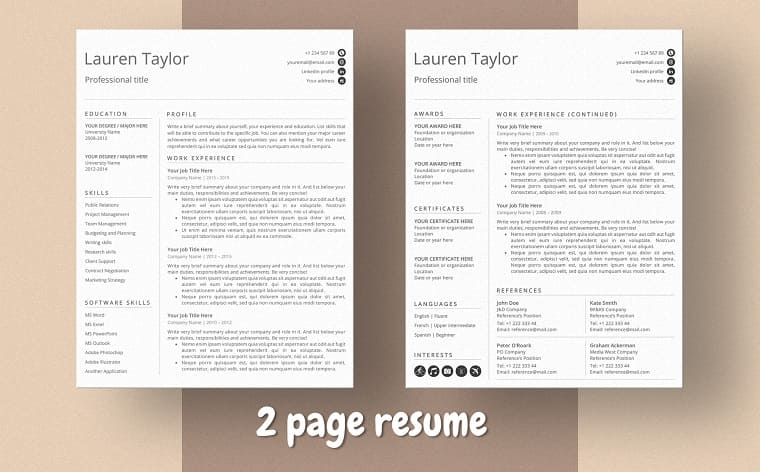 Lauren Taylor Ms Word Cashier Resume Template