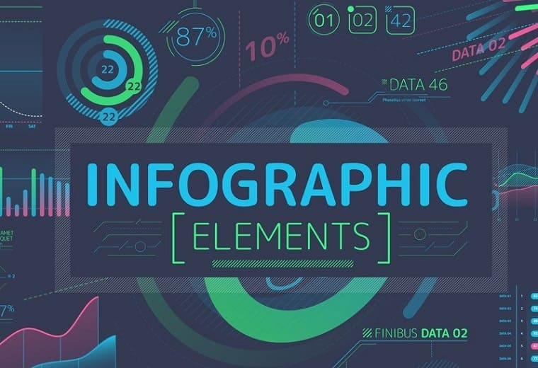 Managed Infographic Elements After Effects Intro